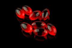 pigułki czerwone Obrazy Royalty Free