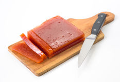 Pigwa nóż i blok Fotografia Royalty Free