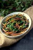 Pigweed della frittura di scalpore Fotografie Stock
