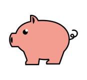 Pigy savings flat icon. Illustration design Stock Photography