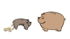 Pigybank Stock Foto's