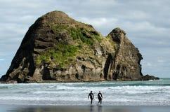 Piha -新西兰 免版税库存照片