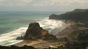 Piha beach. Western shore of Auckland, New Zealand Royalty Free Stock Photos