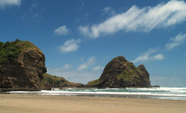 Piha beach. South Piha beach, western shore of Auckland, New Zealand Stock Photos