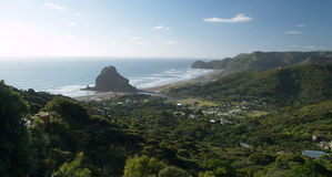 Piha beach. Western shore of Auckland, New Zealand Royalty Free Stock Images