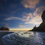 Piha Beach Auckland New Zealand Twilight royalty free stock images