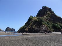 Piha Beach lions rock and beyond stock images