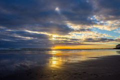 Piha beach. Near to Auckland city, at west coast, the only black sand beach in NZ Royalty Free Stock Images