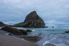 Piha beach. Near to Auckland city, at west coast, the only black sand beach in NZ Royalty Free Stock Photography