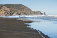 Piha beach, New Zealand. Picture of Piha beach in New Zealand royalty free stock photos