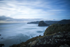 Piha Beach, NZ. Piha beach on Auckland's rugged westcoast in a winter storm royalty free stock photo