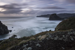 Piha Beach, NZ. Piha beach on Auckland's rugged westcoast in a winter storm royalty free stock photos
