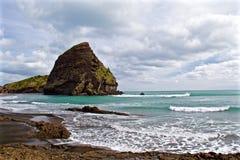 Piha Beach. Photograph taken on a beautiful evening at Piha beach in Auckland, New Zealand Royalty Free Stock Images