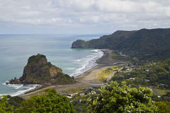 Piha Beach. Western shore of Auckland, New Zealand Royalty Free Stock Photography