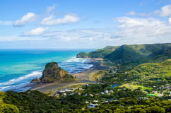 Piha beach. Which is located at the West Coast in Auckland,New Zealand royalty free stock photos