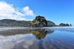 Piha plaża w nowym Zealand fotografia royalty free