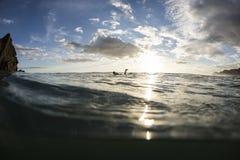 Piha Sunset royalty free stock photography