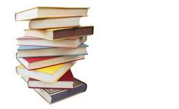 Piile des livres de cru, d'isolement, chemin de découpage Image stock