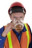 Pijący przy pracą zdjęcie royalty free