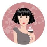 pij kawy dziewczyna również zwrócić corel ilustracji wektora Zdjęcie Royalty Free