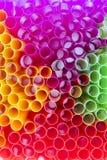 pij kolorowe słoma zdjęcie stock
