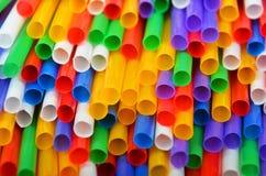 pij kolorowe słoma Fotografia Royalty Free