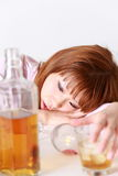 Pijaństwo kobieta fotografia stock
