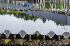 Pijalny woda przepływ po traktowanie sedymentaci obrazy royalty free