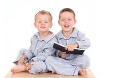 Pijama boys Stock Photography