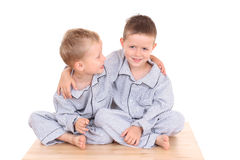 Pijama boys Stock Photos