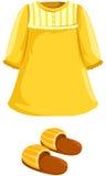 Pijamas con el deslizador Foto de archivo libre de regalías