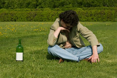 pijany mężczyzna Zdjęcia Royalty Free