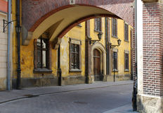 Pijarska Street in the old city in Cracow Stock Photos