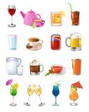 Pije ikony Obraz Stock