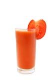 pije soku szklanego zdrowego pomidoru Zdjęcie Stock