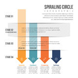 Pijl Benedenwaartse Stapel Infographic Royalty-vrije Stock Fotografie