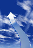 Pijl in de hemel Stock Afbeelding