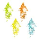 Pijl die van bloemen wordt gemaakt royalty-vrije illustratie