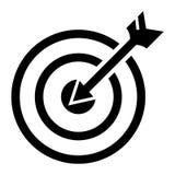 Pijl in doelpictogram, eenvoudige stijl stock illustratie
