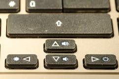 Pijl, een toetsenborddetail Stock Foto