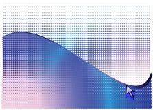 Pijl en blauwe abstracte halftone achtergrond Stock Foto