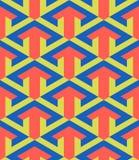 Pijl grafisch ontwerp in een naadloos patroon Stock Afbeelding