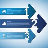 Pijl Infographic Stock Foto's