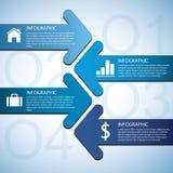 Pijl Infographic Stock Foto