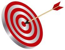 Pijl op de Illustratie van Bullseye van het Doel stock illustratie