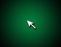 Pijl op groene achtergrond Royalty-vrije Stock Foto
