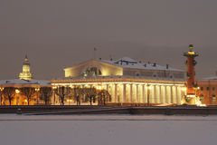 Pijl van eiland Vasilevsky Royalty-vrije Stock Foto