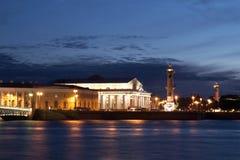 Pijl van eiland Vasilevsky Stock Afbeeldingen