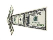 Pijl van geld Royalty-vrije Stock Afbeeldingen