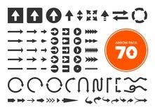 70 pijlen stock illustratie